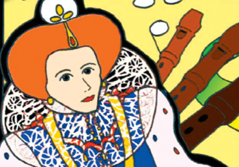 Cartoon image of Elizabeth I